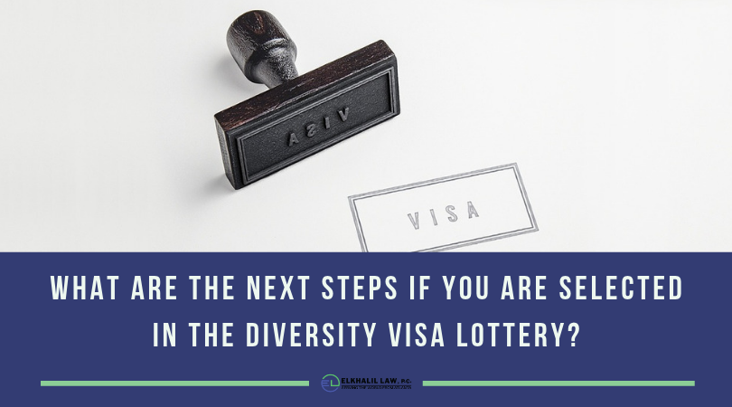 What are the next steps if you are selected in the Diversity Visa Lottery?